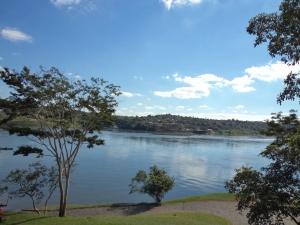 Rio Paraguai, ops, Paraná, visto da janela do Restaurante Dourado.